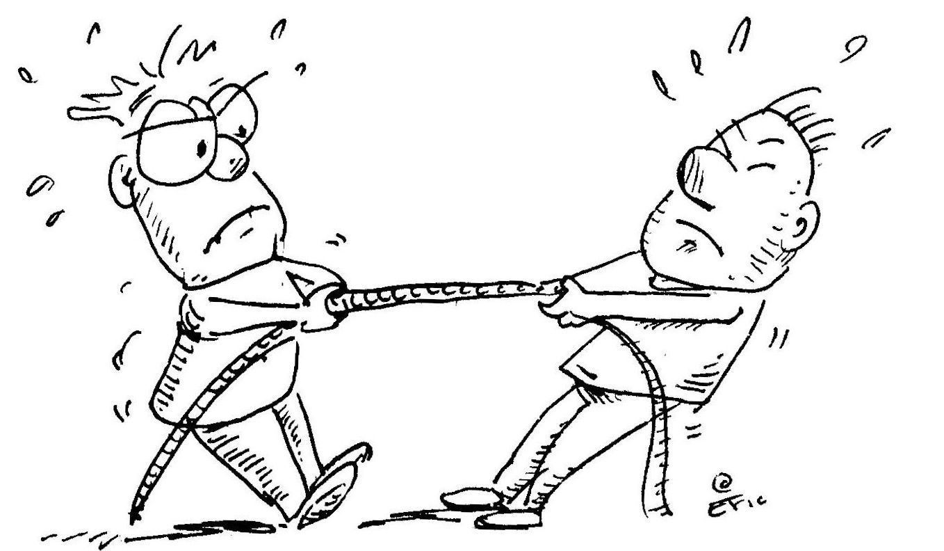 Image result for tug-of-war cartoon federal agency